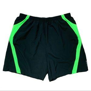 Reebok Men's Swim Trunks Black and Green